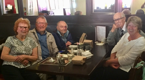 2018 0420 Santa Barbara - Marie and Dick Cline, Gene Peterson, Jim Young, Diane Sova